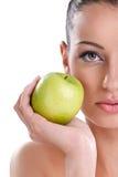 Здоровая еда, здоровая женщина Стоковые Изображения
