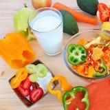 Здоровая еда - здоровая жизнь стоковое изображение