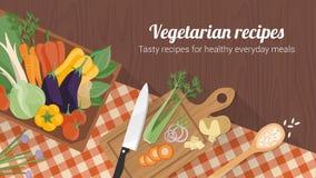 Здоровая еда и вкусные рецепты Стоковое Изображение RF
