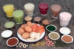 Здоровая еда и пить для построителей тела Стоковые Фотографии RF