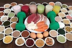 Здоровая еда и пить для построителей тела Стоковое Изображение