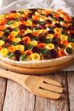 Здоровая еда: конец-вверх лета vegetable кислый вертикально стоковая фотография