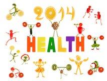 Здоровая еда. Маленькие смешные люди сделанные из овощей и плодоовощ бесплатная иллюстрация