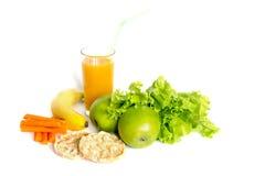 Здоровая еда на белой предпосылке Стоковые Фотографии RF