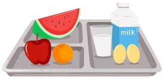 Здоровая еда на подносе бесплатная иллюстрация
