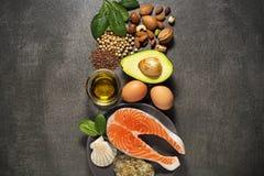 Здоровая еда с salmon рыбами Стоковое фото RF