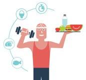 Здоровая еда тела Стоковая Фотография