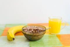 Здоровая еда утра на таблице Стоковые Фотографии RF