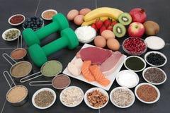 Здоровая еда для построителей тела стоковое фото rf
