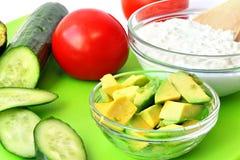 Здоровая еда для среднеземноморских завтрака или закуски стоковое изображение