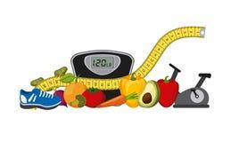 здоровая еда для dieting дизайна Стоковые Изображения
