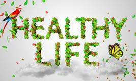 Здоровая жизнь выходит частицы 3D Стоковые Изображения