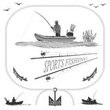 Здоровая жизнь в природе и рыбной ловле Стоковые Изображения RF