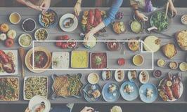 Здоровая концепция еды еды обеда еды Стоковое фото RF