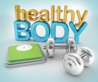 Здоровая концепция тела Стоковое Изображение