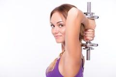 Здоровая молодая спортсменка делает тренировки Стоковые Фото