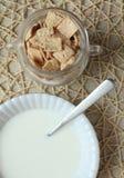 Здоровая предпосылка завтрака Стоковые Фотографии RF