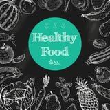 Здоровая предпосылка доски еды иллюстрация штока