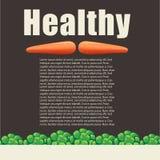 Здоровая тема еды с свежими овощами иллюстрация вектора