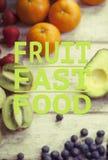 Здоровая цитата еды Стоковые Изображения