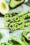 Здоровая цитата еды Стоковое фото RF