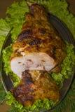Здоровенная часть мяса, нога свинины стоковое изображение rf