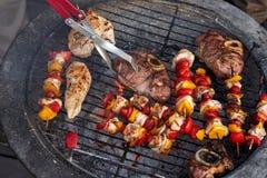 Здоровое барбекю протыкальника цыпленка Стоковая Фотография RF