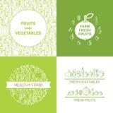 Здоровое знамя вектора еды Стоковые Изображения RF
