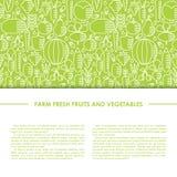 Здоровое знамя вектора еды Бесплатная Иллюстрация