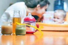 Здоровое и естественное детское питание Стоковые Фотографии RF