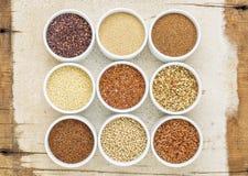 9 здоровое, клейковина освобождают зерна Стоковые Изображения RF