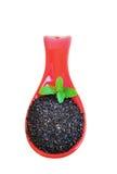 Здоровое дополнение еды с витаминами и минералами сезам Семена сезама Стоковое фото RF