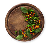 Здоровое питание еды, испаренное vegetable смешивание стоковое фото