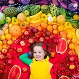 Здоровое питание фрукта и овоща для детей Стоковые Изображения RF