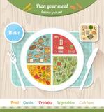 Здоровое питание Vegan иллюстрация штока