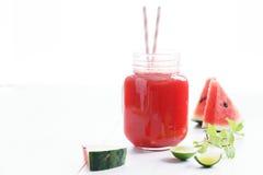 Здоровое питье арбуза Стоковая Фотография