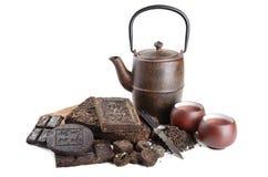 Здоровое питье чая pu-erh Стоковые Фото