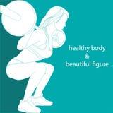 Здоровое тело и красивая диаграмма Стоковая Фотография RF