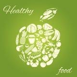 Здоровое яблоко еды иллюстрация вектора