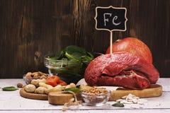 Здоровые богачи продукта утюга Стоковое фото RF