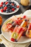 Здоровые все Popsicles плодоовощ Стоковые Фото