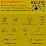 Здоровые глаза Инфографика Стоковая Фотография