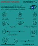 Здоровые глаза Инфографика Стоковые Изображения RF
