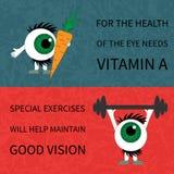 Здоровые глаза Продукты и спорт Стоковая Фотография RF