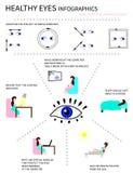 Здоровые глаза Infografics Стоковое фото RF