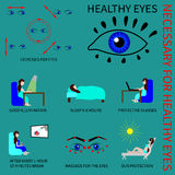Здоровые глаза Infografics Стоковое Фото