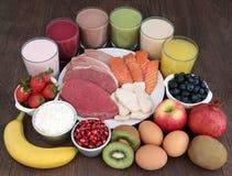 Здоровые еда и пить для построителей тела Стоковые Фото