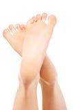 Здоровые женские ноги Стоковое Фото