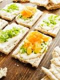 Здоровые закуски хлеба Стоковое Изображение RF