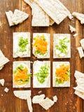 Здоровые закуски хлеба Стоковые Фотографии RF